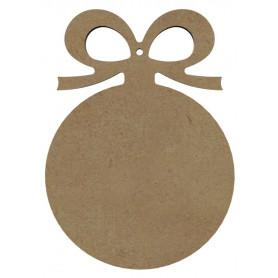 Mini support Bois forme de Boule de Noël pour Mosaïque 15 cm
