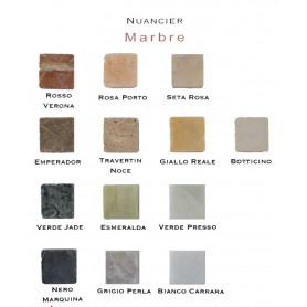 Nuancier du marbre naturel mat pour mosaïque 2 × 2 cm