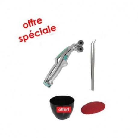 Kit outils mosaïque complet ERGONOMIQUE avec une pince mosaïque Breda, une pince brucelles, une estèque et une auge à joint