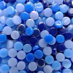 Mini-cabochons XS OUTREMER bleu en vrac 100 g pour créations mosaïque