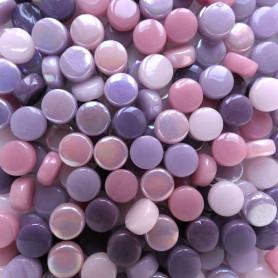 Mini-cabochons XS VIOLETTE rose mauve vendus par 100 g