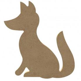 Mini support Bois forme de Renard pour Mosaïque 15 cm