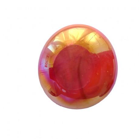 Bille de verre XL ORANGE irisé vendue à l'unité