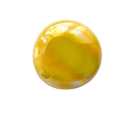 Bille de verre XL JAUNE irisé vendue à l'unité