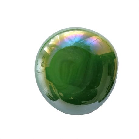 Bille de verre XL VERT irisée