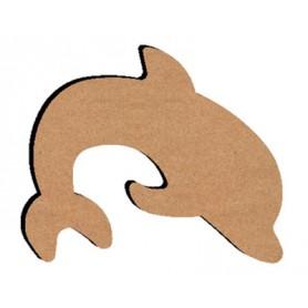 Support Bois en forme de Dauphin pour Mosaïque 26 cm