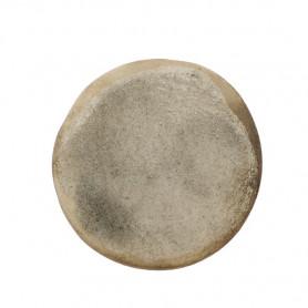 Céramique artisanale émaillée technique du raku ROND beige pour mosaïque vue de face
