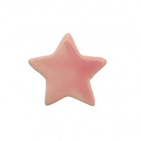 Céramique artisanale émaillée ÉTOILE rose pâle pour mosaïque vue de face