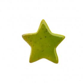 Céramique artisanale émaillée ÉTOILE vert olive pour mosaïque vue de face