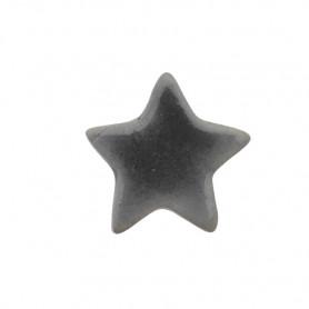 Céramique artisanale émaillée ÉTOILE gris pour mosaïque vue de profil
