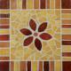 Support carré en MDF 23 cm décoré en Emaux de Briare POLLEN, TUILE et CORIANDRE
