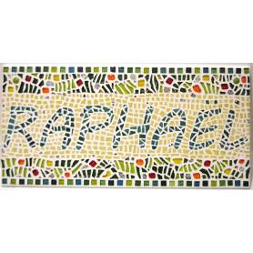 Exemple de mosaïque PRÉNOM RAPHAËL décoré par Sylvia