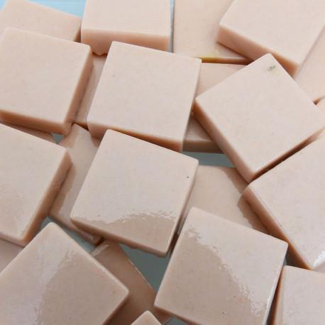 Pâtes de verre lisses couleur VIEUX ROSE pour mosaïque 2 × 2 vendues par 100 g