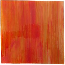 Tige de verre ABRICOT orange tendre 18 x 2 cm
