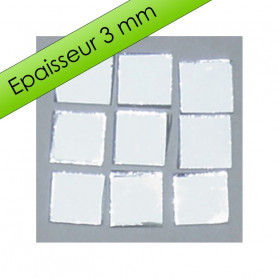 Tesselles de miroir ARGENTÉ 1 × 1 cm pour mosaïque vendues par 100 g ou 300 g