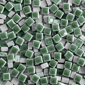 Micro-porcelaine FEUILLE vert tendre 5 × 5 mm