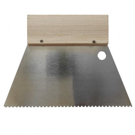 Peigne pour ciment-colle 18 cm spécialement adapté à la mosaïque
