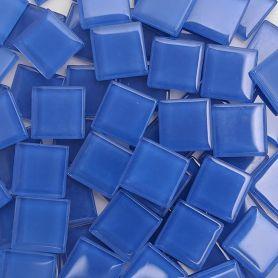 Pâtes de verre translucides Bleuet 2 × 2 cm