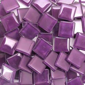 Pâtes de verre translucides Cassis 2 × 2 cm