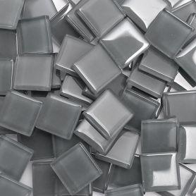 Pâtes de verre translucides Cendre 2 × 2 cm