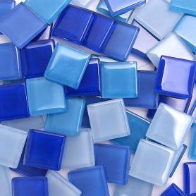 Pâtes de verre translucides Cocktail Lavande mélange de bleu 2 × 2 cm