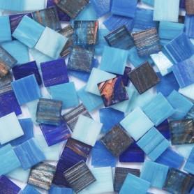 Pâtes de verre italiennes irisées COCKTAIL BRETAGNE 2 × 2 cm vendues par 400 g et 1 kg