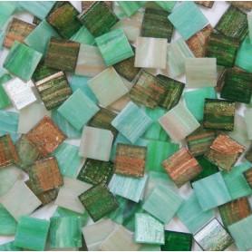 Pâtes de verre italiennes irisées COCKTAIL LANDES 2 × 2 cm vendues par 400 g et 1 kg