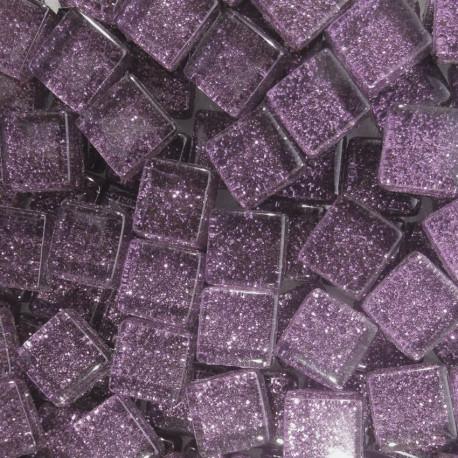Pâtes de verre pailletées PARME 1 × 1 cm vendues par 100 g, 300 g et 600 g