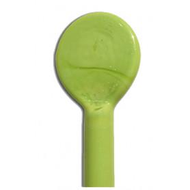 Sticks de verre VERDE PISELLO vert Effetre Murano 20 cm de long et 5-6 mm de diamètre
