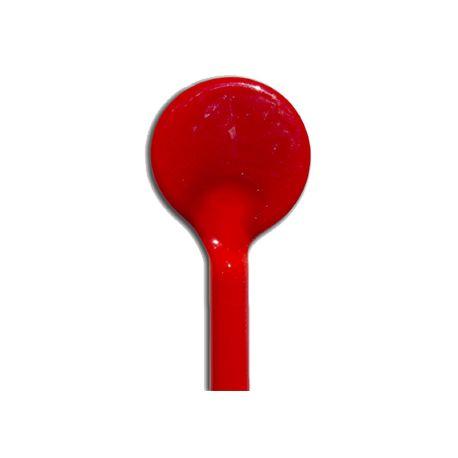 Sticks de verre ROSSO PORPORA MEDIO rouge foncé Effetre Murano 20 cm de long et 5-6 mm de diamètre