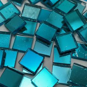 Tesselles de miroir BLEU 1 × 1 cm pour mosaïque vendues par 100 g ou 300 g