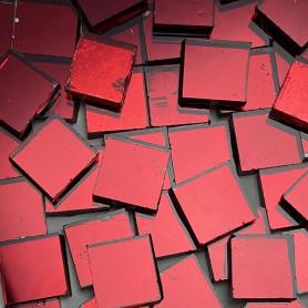 Tesselles de miroir ROUGE 1 × 1 cm pour mosaïque vendues par 100 g ou 300 g