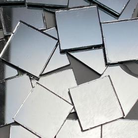 Tesselles de miroir ARGENTÉ 2 × 2 cm pour mosaïque vendues par 100 g