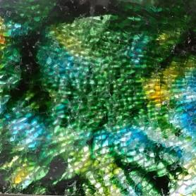 Crackle marbrée couleur VERT OCÉAN 15 × 20 cm