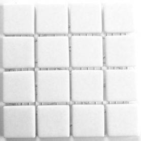 Emaux 24 Blanc 2,35 × 2,35 cm vendus à la mini-plaque de 16 carreaux