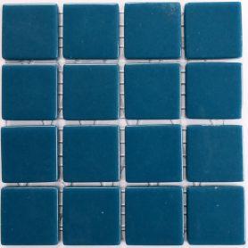 Emaux 24 Bleu 2,35 × 2,35 cm vendus à la mini-plaque de 16 carreaux
