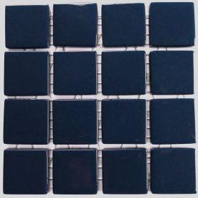 Emaux 24 Bleu marine 2,35 × 2,35 cm vendus à la mini-plaque de 16 carreaux