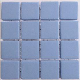 Emaux 24 Bleu pastel 2,35 × 2,35 cm vendus à la mini-plaque de 16 carreaux