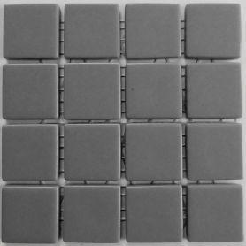 Emaux 24 Gris 2,35 × 2,35 cm vendus à la mini-plaque de 16 carreaux
