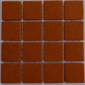 Emaux 24 Marron 2,35 × 2,35 cm vendus à la mini-plaque de 16 carreaux