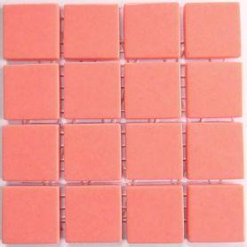 Emaux 24 Rose moyen 2,35 × 2,35 cm vendus à la mini-plaque de 16 carreaux