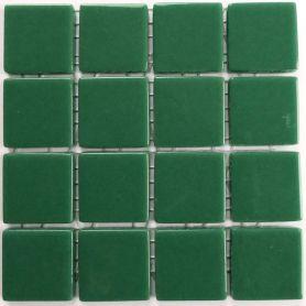 Emaux 24 Vert 2,35 × 2,35 cm vendus à la mini-plaque de 16 carreaux