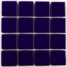 Emaux 24 Bleu nuit 2,35 × 2,35 cm vendus à la mini-plaque de 16 carreaux