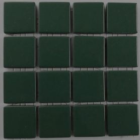 Emaux 24 Vert foncé 2,35 × 2,35 cm vendus à la mini-plaque de 16 carreaux