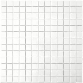 Emaux de Briare Mazurka couleur CRAIE blanc mats pour mosaïque 2,5 × 2,5 cm vendus sur trame
