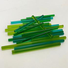 Sticks de verre translucide CAMAÏEU VERT 100 g