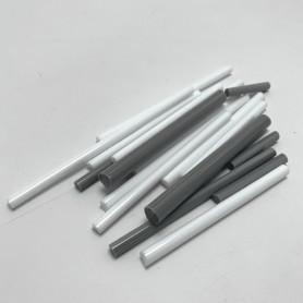 Sticks de verre opaque CAMAÏEU BLANC ET GRIS 100 g