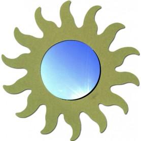 Miroir soleil 75 cm en médium pour mosaïque ou autres techniques de loisirs créatifs