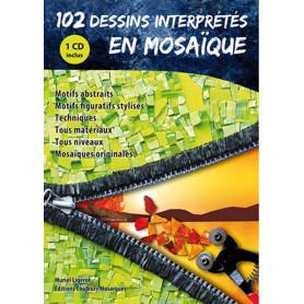 LIVRE 102 dessins interprétés en mosaïque