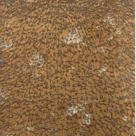 Verre Crackle couleur BRONZE marbrée 15 x 20 cm